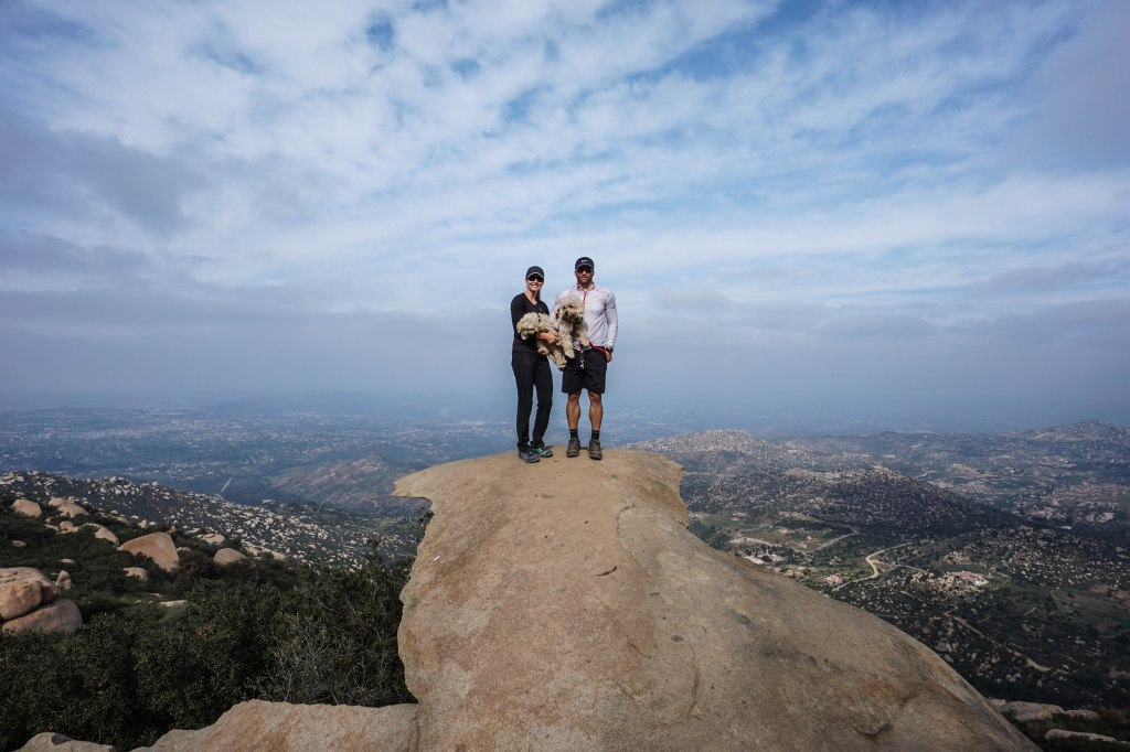 Mt. Woodson Potato Chip Rock With Dogs
