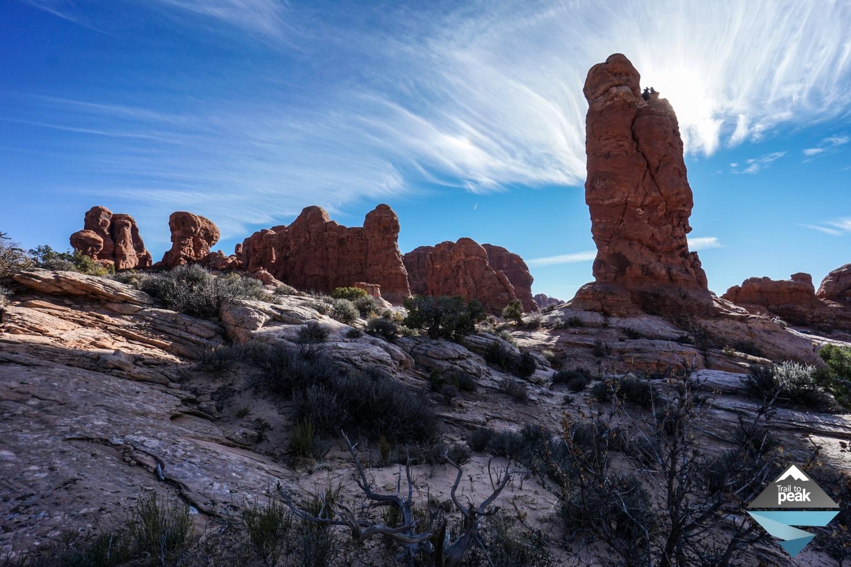 Arches National Park Balanced Rock Garden Of Eden Double Arch And The Windows