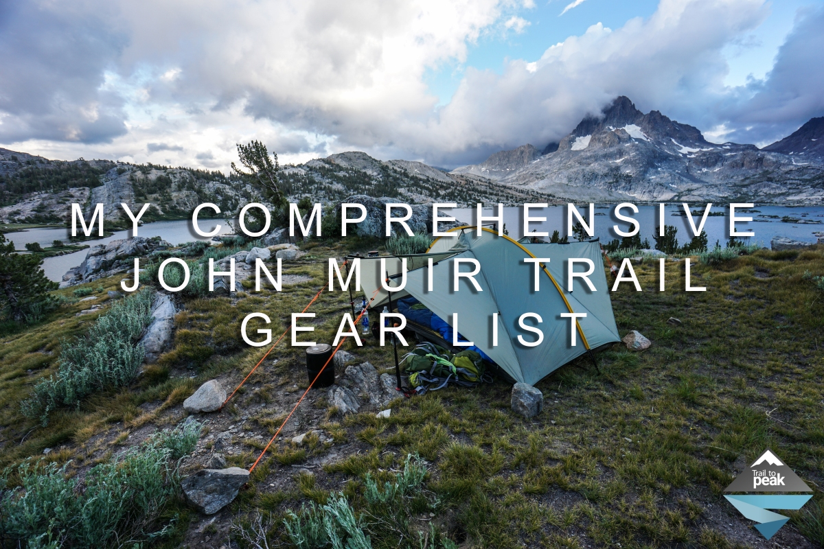 Food List For The Jmt
