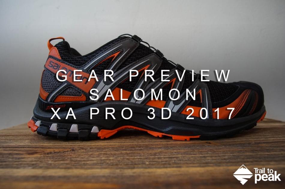 Salomon XA Pro 3D Preview Shoe Review 2017